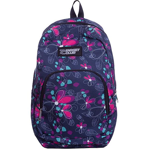 Рюкзак Target Collection Swell 2Рюкзаки<br>Характеристики:<br><br>• возраст от: 6 лет;<br>• цвет: синий/розовый;<br>• материал: полиэстер;<br>• размер: 41х32х18 см.;<br>• объем рюкзака: средний ( 20-30 л.);<br>• вес рюкзака: 1 кг.;<br>• тип рюкзака: повседневный;<br>• спинка: ортопедическая;<br>• тип застёжки: молния;<br>• количество отделений: 1 отделение.;<br>• количество карманов: 1 внешний/ 2 внутренних/ 2 боковых;<br>• дополнительная ручка-петля;<br>• износостойкая обивка выдержит любую погоду и прослужит не один год;<br>• регулируемые укрепленные лямки;<br>• стильный дизайн;<br>• бренд, страна бренда: Target Collection, Словения.<br><br>Детский рюкзак SWELL 2 от Target Collection имеет яркий, красивый, цветочный рисунок и изготовлен из современных, прочных материалов. Оснащен двумя удобными лямками, длина которых регулируется. У него одно большое отделения, которое закрывается на молнию. На внешней стороне рюкзака расположен большой накладной карман на молнии. По бокам имеются два кармана на резинке. Бегунки на застежках дополнены удобными тканевыми держателями. Ручка из плотной ткани в верхней части рюкзака сделает ношение в руке более удобным и комфортным.<br><br>Легкий и функциональный рюкзак станет надежным спутником во время путешествий и повседневной носке. Рюкзак износостойкий, легко чистится и не требует бережного ухода. Рюкзаки от Target Collection наилучшим образом подчеркнут вашу креативность, индивидуальность и неповторимый стиль!<br><br>Детский рюкзак SWELL 2 от Target Collection , синий/розовый, можно купить в нашем интернет-магазине.<br>Ширина мм: 410; Глубина мм: 320; Высота мм: 180; Вес г: 1000; Цвет: pink/blau; Возраст от месяцев: 72; Возраст до месяцев: 192; Пол: Унисекс; Возраст: Детский; SKU: 8392461;