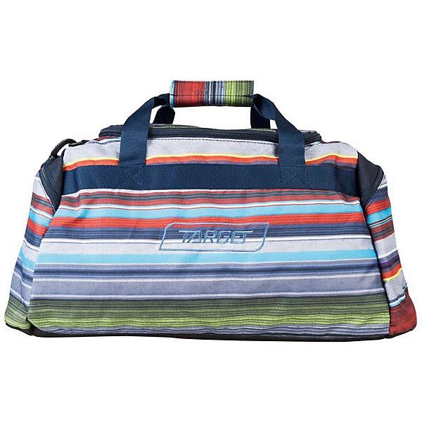 Спортивная сумка Target Collection AlloverСпортивные сумки<br>Характеристики:<br><br>• возраст от: 6 лет;<br>• цвет: мультиколор;<br>• материал: полиэстер;<br>• размер сумки: 30х55х27 см.;<br>• объем сумки:большой ( 40 л.);<br>• вес сумки: 500 гр.;<br>• тип сумки: дорожная;<br>• тип застёжки: молния;<br>• количество отделений: 1 отделения;<br>• количество карманов: 2 внешних;<br>• плотная ручка в верхней части;<br>• усиленное дно;<br>• износостойкая обивка;<br>• съемый регулируемый ремень;<br>• стильный дизайн;<br>• бренд, страна бренда: Target Collection, Словения.<br><br>Вместительная дорожная сумка ALLOVER от Target Collection выполнена из из высококачественного и водонепроницаемого полиэстера. Изделие имеет одно отделение, которое закрывается на застежку-молнию. Снаружи по бокам расположены два накладных кармана на застежках-молниях. Сумка дополнена двумя удобными ручками. В комплект входит съемный регулируемый плечевой ремень. Данная модель выполнена в ярком сочетании цветов, имеет инновационный стильный дизайн.<br><br>Дорожную сумку ALLOVER от Target Collection, мультиколор, можно купить в нашем интернет-магазине.<br>Ширина мм: 300; Глубина мм: 550; Высота мм: 270; Вес г: 500; Возраст от месяцев: 72; Возраст до месяцев: 192; Пол: Унисекс; Возраст: Детский; SKU: 8392503;