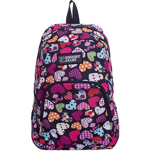 Рюкзак Target Collection Love is 2Рюкзаки<br>Характеристики:<br><br>• возраст от: 6 лет;<br>• цвет: черный/принт;<br>• материал: полиэстер;<br>• размер: 41х32х18 см.;<br>• объем рюкзака: средний ( 20-30 л.);<br>• вес рюкзака: 1 кг.;<br>• тип рюкзака: повседневный;<br>• спинка: ортопедическая;<br>• тип застёжки: молния;<br>• количество отделений: 1 отделение.;<br>• количество карманов: 1 внешний/ 2 внутренних/ 2 боковых;<br>• дополнительная ручка-петля;<br>• износостойкая обивка выдержит любую погоду и прослужит не один год;<br>• регулируемые укрепленные лямки;<br>• стильный дизайн;<br>• бренд, страна бренда: Target Collection, Словения.<br><br>Детский рюкзак Love is 2 от Target Collection имеет яркий, красивый  рисунок и изготовлен из современных, прочных материалов. Оснащен двумя удобными лямками, длина которых регулируется. У него одно большое отделения, которое закрывается на молнию. На внешней стороне рюкзака расположен большой накладной карман на молнии. По бокам имеются два кармана на резинке. Бегунки на застежках дополнены удобными тканевыми держателями. Ручка из плотной ткани в верхней части рюкзака сделает ношение в руке более удобным и комфортным.<br><br>Легкий и функциональный рюкзак станет надежным спутником во время путешествий и повседневной носке. Рюкзак износостойкий, легко чистится и не требует бережного ухода. Рюкзаки от Target Collection наилучшим образом подчеркнут вашу креативность, индивидуальность и неповторимый стиль!<br><br>Детский рюкзак Love is 2 от Target Collection , черный/принт, можно купить в нашем интернет-магазине.<br>Ширина мм: 410; Глубина мм: 320; Высота мм: 180; Вес г: 1000; Цвет: фиолетовый; Возраст от месяцев: 72; Возраст до месяцев: 192; Пол: Женский; Возраст: Детский; SKU: 8392523;