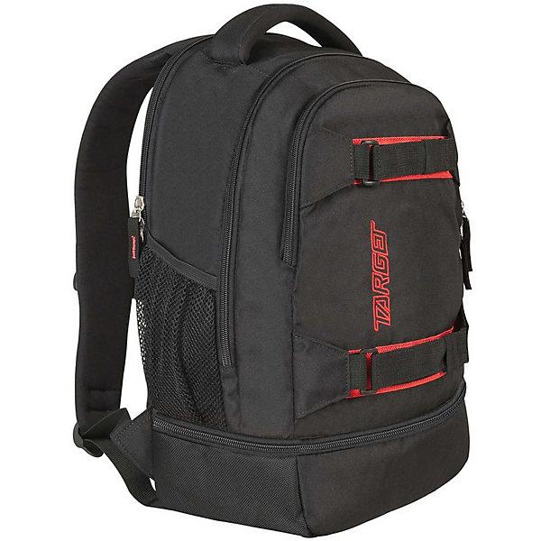 Рюкзак Target Collection Carbon 3Рюкзаки<br>Характеристики:<br><br>• возраст от: 6 лет;<br>• цвет: черный/красный;<br>• материал: полиэстер;<br>• размер: 47х30х20 см.;<br>• объем рюкзака: средний ( 29 л.);<br>• вес рюкзака: 900 гр.;<br>• тип рюкзака: универсальный;<br>• ремни для скейтборда;<br>• отделение для ноутбука;<br>• карманы с сеткой;<br>• спинка: мягкая;<br>• тип застёжки: молния;<br>• количество отделений: 2 отделения;<br>• количество карманов: 3 внешних;<br>• плотная ручка в верхней части;<br>• усиленное дно;<br>• износостойкая обивка;<br>• регулируемые анатомические лямки;<br>• стильный дизайн;<br>• светоотражающие вставки;<br>• бренд, страна бренда: Target Collection, Словения.<br><br>Городской рюкзак CARBON - 3 от Target Collection создан для того, чтобы обеспечить активный и современный образ жизни. Рюкзак содержит два внутренних отделения, карман на лицевой стороне и два боковых кармана-сетки. Вмещает в себя ноутбук диагональю 15 дюймов. Рюкзак имеет мягкую заднюю панель, регулируемые мягкие плечевые ремни и застежку между ними. Прочная верхняя ручка позволяет носить рюкзак в руке. Универсальные внутренние карманы. На дне есть карман на молнии. Вмещает 29 литров. Главное отличие – наличие ремней для крепления скейтборда.<br><br>Вместительный рюкзак подходит для школы, а также для занятий спортом и проведения досуга. Рюкзак выполнен из высококачественного и водонепроницаемого материала. Данная модель выполнена в практичном сочетании цветов, имеет прекрасную эргономику и инновационный стильный дизайн.<br><br>Городской рюкзак CARBON - 3 от Target Collection, черный/красный, можно купить в нашем интернет-магазине.<br>Ширина мм: 470; Глубина мм: 300; Высота мм: 200; Вес г: 900; Цвет: черный/розовый; Возраст от месяцев: 72; Возраст до месяцев: 192; Пол: Унисекс; Возраст: Детский; SKU: 8392547;