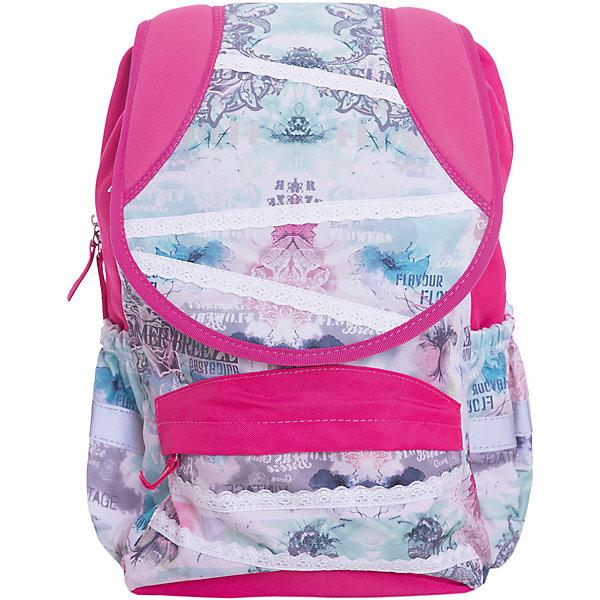 Рюкзак школьный Target Collection Летний бризРюкзаки<br>Характеристики:<br><br>• возраст от: 6 лет;<br>• цвет: розовый/белый;<br>• материал: полиэстер;<br>• размер: 40х30х20 см.;<br>• объем рюкзака: средний ( 20-30 л.);<br>• вес рюкзака: 700 гр.;<br>• тип рюкзака: универсальный;<br>• система «Flexiball» (поясничная поддержка);<br>• спинка: ортопедическая, воздухопроницаемая;<br>• тип застёжки: клапан, молния;<br>• количество отделений: 2 отделения;<br>• количество карманов: 3 внешних;<br>• мягкая ручка в верхней части;<br>• прочное и устойчивое дно;<br>• износостойкая обивка;<br>• регулируемые анатомические лямки;<br>• светоотражающие элементы;<br>• страна бренда:  Словения.<br><br>Молодежный рюкзак Летний бриз от Target Collection для девочки - это практичный и стильный, который подчеркнет индивидуальность вашего ребенка. Рюкзак имеет форму куба, отлично подойдет для учащихся начальных классов, а также для повседневной носке. Рюкзак содержит 2 больших отделения, закрывающегося на молнию. На лицевой стороне рюкзака расположен большой накладной карман на молнии, а по бокам рюкзака два кармана на резинке. При создании данной модели используются улучшенные материалы (3D), которые имеют свойство «дышать». Светоотражающий материал присутствует на передней, боковой и задней части рюкзака, что позволяет сделать вашего ребенка более заметным.<br><br>Рюкзак изготовлен из современных, прочных материалов. Техническими особенностями является система Flexiball - поясничная поддержка, правильно распределяет вес ранца, автоматически подстраивается под ребенка, и поэтому обеспечивает идеальное положение в области поясницы ребёнка. Плечевые лямки можно отрегулировать для каждого ребенка индивидуально, поэтому получается что он «растет» вместе с ребенком. <br><br>Лямки содержат вентиляционные отверстия и тем самым имеют возможность дышать. Они дополнительно оснащены ЭКО-пеной, которая делает ношение портфеля более комфортным для ребёнка.Грудное крепление-стяжка для фиксации на плечах