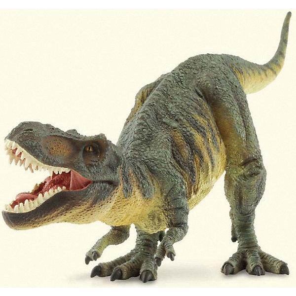 Коллекционная фигурка Collecta Тираннозавр, 1:40Мир животных<br>Характеристики:<br><br>• возраст: от 3 лет;<br>• материал: пластик;<br>• масштаб: 1:40;<br>• размер фигурки: 29,5х9х15 см;<br>• размер упаковки: 28х15х11 см;<br>• вес упаковки: 439 гр.;<br>• страна бренда: Англия.<br><br>Фигурка Gulliver Collecta тираннозавр – детализированная копия особи вымершего вида. Игрушка выполнена в характерных цветах, каждый участок прорисован, проработаны рельефы. Фигурка находится в позе, соответствующей этому динозавру.<br><br>Высококачественный пластик нетоксичен, покрыт гипоаллергенными красителями. Фигурка подойдет для игровых целей и станет ценным экземпляром коллекции фигурок Gulliver Collecta.<br><br>Тираннозавра 1:40 можно купить в нашем интернет-магазине.<br>Ширина мм: 280; Глубина мм: 150; Высота мм: 110; Вес г: 439; Возраст от месяцев: 36; Возраст до месяцев: 60; Пол: Унисекс; Возраст: Детский; SKU: 8392637;
