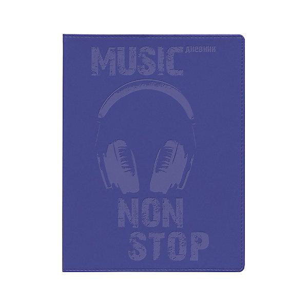 Школьный дневник Альт «music non stop», фиолетовыйДневники<br>Характеристики:<br><br>• возраст: от 6 лет;<br>• цвет: фиолетовый;<br>• количество листов: 48;<br>• формат: А5;<br>• разметка: в линейку;<br>• обложка: искусственная кожа, картон;<br>• размер: 22х17,2х8 см;<br>• вес: 200 гр;<br>• страна бренда: Россия.<br><br>Школьный дневник Альт «music non stop» ( Музик нон стоп) имеет сшитый внутренний блок, состоящий из 96 страниц бежевой бумаги (плотность 70г/кв.м.) с линовкой черного цвета. <br><br>В дневнике содержится вся необходимая справочная информация, которая поможет организовать учебный процесс.<br><br>Школьный дневник Альт «music non stop» ( Музик нон стоп), фиолетовый 48 листов можно купить в нашем интернет-магазине.<br>Ширина мм: 220; Глубина мм: 172; Высота мм: 8; Вес г: 200; Цвет: разноцветный; Возраст от месяцев: 72; Возраст до месяцев: 2147483647; Пол: Унисекс; Возраст: Детский; SKU: 8393433;