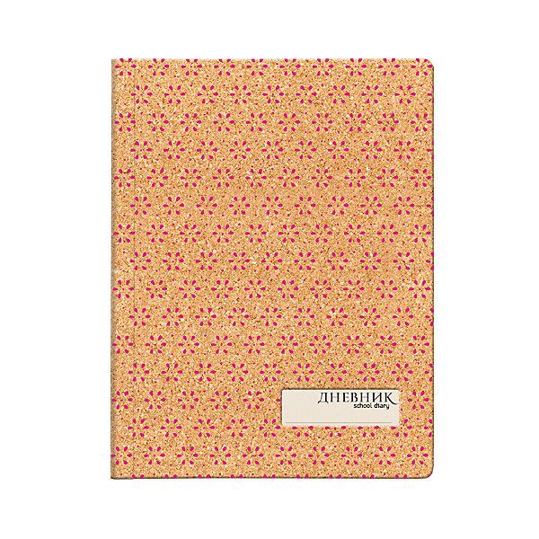 Дневник школьный с вырубкой Альт «Цветы»Дневники<br>Характеристики:<br><br>• возраст: от 6 лет;<br>• обложка: 3 вида;<br>• тип обложки: пробковое дерево;<br>• количество листов: 48;<br>• бумага: офсет 70 г/кв. м;<br>• параметры: 22х17 см;<br>• размер упаковки: 22х17х1 см;<br>• вес в упаковке: 291 гр;<br>• страна бренда: Россия.<br><br>Дневник школьный выпускается в твердой износостойкой обложке, имитирующей пробковое дерево с орнаментом из повторяющихся цветочных элементов. Угол обложки и блока закругленные. <br><br>Страницы внутреннего блока сделаны из из гладкой белой бумаги высшего сорта. На первом форзаце обложки находится отдельное поле для личных данных ученика <br><br>Дневник школьный с вырубкой Альт «Цветы», можно купить в нашем интернет-магазине.<br>Ширина мм: 220; Глубина мм: 170; Высота мм: 10; Вес г: 291; Цвет: разноцветный; Возраст от месяцев: 72; Возраст до месяцев: 2147483647; Пол: Унисекс; Возраст: Детский; SKU: 8393455;