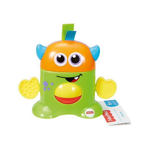 Mattel Развивающая игрушка Fisher Price Мини-монстрики, зелёный развивающая панель друзья из тропического леса fisher price