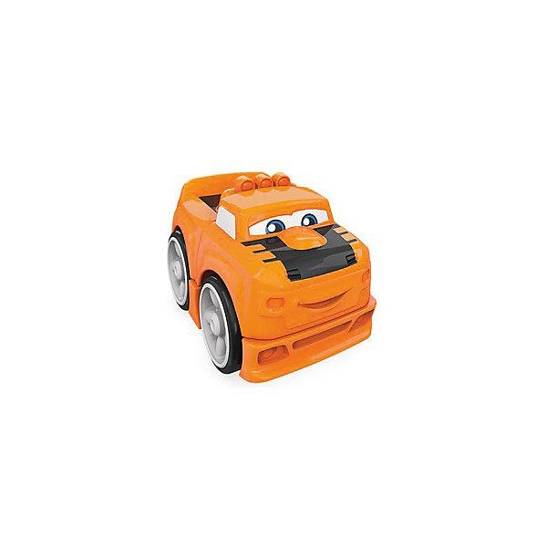 Mattel Конструктор MEGA BLOCKS Гоночные машинки, оранжевая soft blocks конструктор дружок 3102