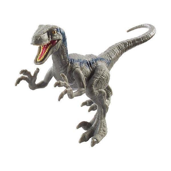 Mattel Фигурка динозавра Jurassic World Атакующая стая, Велоцираптор синий mattel фигурка динозавра jurassic world мини динозавры