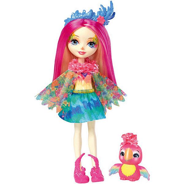 Mattel Мини-кукла Enchantimals Любимая зверюшка Пикки Попугай и Шини кукла enchantimals со зверушкой и тематическим набором fcc62 праздник фламинго