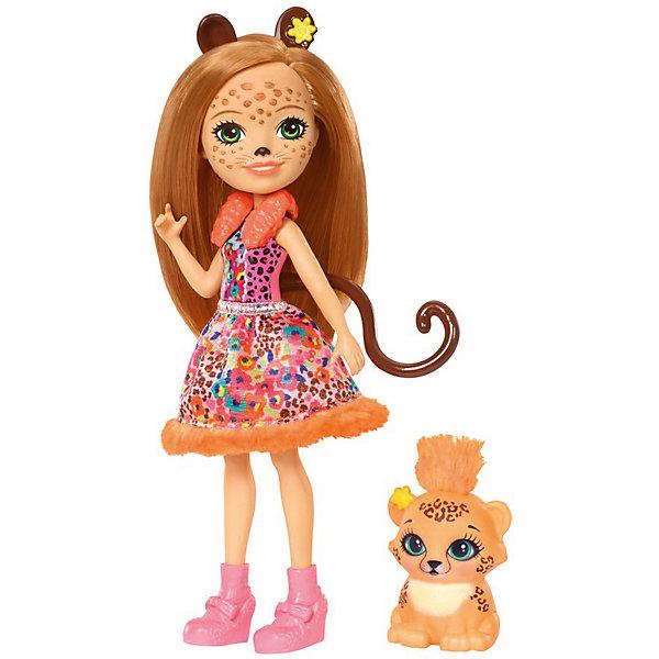 Mattel Мини-кукла Enchantimals Любимая зверюшка Чериш Гепардини и Шустрик mattel enchantimals frh40 кукла с питомцем волчица винсли