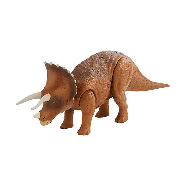 Mattel Фигурка Jurassic World Динозавры Трицератопс, со звуковыми эффектами mattel фигурка динозавра jurassic world мини динозавры