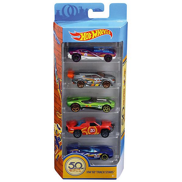 Mattel Набор машинок Hot Wheels Юбилейный выпуск, 5 штук набор машинок die cast полиция