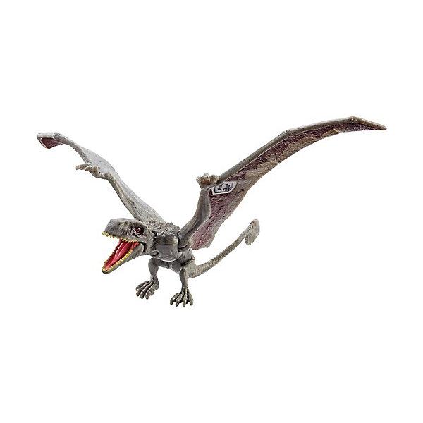Mattel Фигурка динозавра Jurassic World Атакующая стая, Диморфодон, серый mattel фигурка динозавра jurassic world мини динозавры