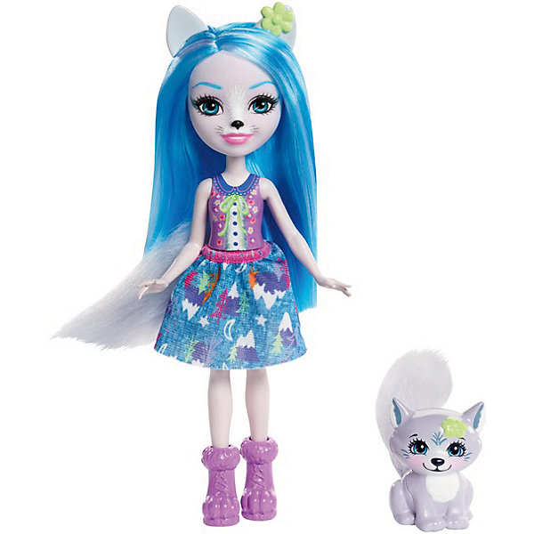 Mattel Мини-кукла Enchantimals Любимая зверюшка Волк и волчонок