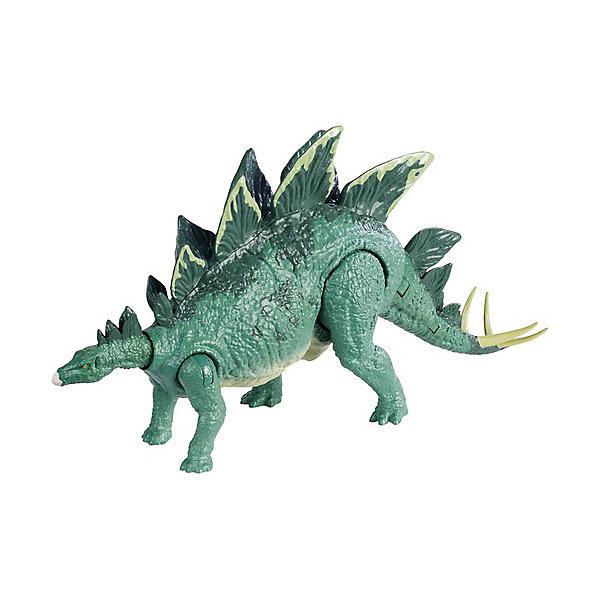 Фигурка динозавра Jurassic World Боевой удар , Стегозавр, Mattel, Китай, Мужской  - купить со скидкой