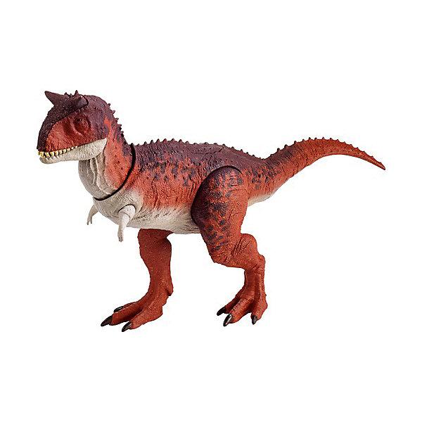Mattel Фигурка динозавра Jurassic World Боевой удар, Карнотавр mattel фигурка динозавра jurassic world мини динозавры