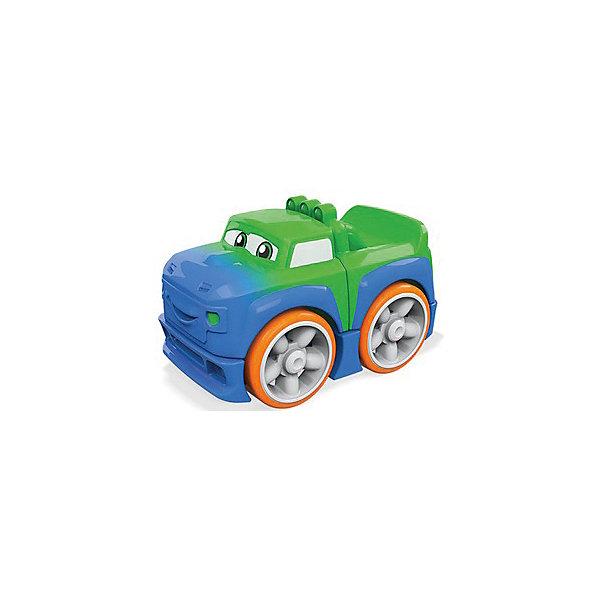 Mattel Конструктор MEGA BLOCKS Гоночные машинки, сине-зелёная soft blocks конструктор дружок 3102