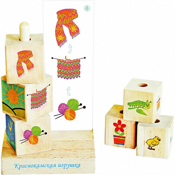 Логическая игра Краснокамская игрушка Логический рядНастольные игры для всей семьи<br>Характеристики:<br><br>• возраст: от 3лет;<br>• материал: дерево;<br>• в наборе: 6 кубиков с картинками по теме «живое, неживое», 8 карточек-заданий, подставка с держателем кубиков, правила игры;<br>• вес упаковки: 423 гр.;<br>• размер упаковки: 10х12х19 см;<br>• страна бренда: Россия.<br><br>Настольная игра «Краснокамская игрушка» «Логический ряд» поможет ребенку научиться видеть причинно-следственные связи через картинки. На каждом кубике нанесено изображение из логической цепочки. Например, клубок и спицы на одном кубике, вязание на другом и готовый шарф на третьем. Ребенок должен расположить кубики в правильном порядке.<br><br>Кроме того, в игре есть карточки-задания, которые малыш с интересом возьмется выполнять. Игра развивает не только логическое мышление, но и внимательность, память и расширяет кругозор.<br><br>Логическую игру «Краснокамская игрушка» ЛИ-13 «Логический ряд» можно купить в нашем интернет-магазине.<br>Ширина мм: 100; Глубина мм: 120; Высота мм: 190; Вес г: 423; Возраст от месяцев: 36; Возраст до месяцев: 2147483647; Пол: Унисекс; Возраст: Детский; SKU: 8398119;
