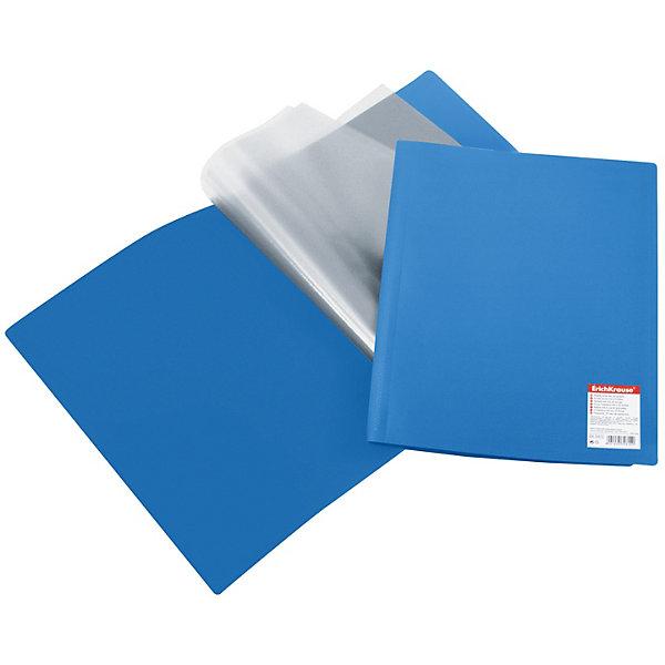 Папка ErichKrause «Standard» А4, синийПапки пластиковые<br>Характеристики:<br><br>• возраст: от 8 лет;<br>• формат: А4;<br>• материал: полипропилен;<br>• цвет: синий;<br>• размер: 23х31х2,3 см;<br>• количество листов-карманов: 40; <br>• вес в упаковке: 178 гр;<br>• упаковка: пакет;<br>• страна бренда: Германия.<br><br>Папка ErichKrause выполнена из полипропилена с прозрачными листами-карманами, скрепленными термосваркой. Папка предназначена для хранения часто используемых упорядоченных рабочих бумаг: прайс-листов, расчетных таблиц. <br><br>Папка ErichKrause «Standard» (ЭрихКраузе «Стандарт») А4, синий можно купить в нашем интернет-магазине.<br>Ширина мм: 230; Глубина мм: 310; Высота мм: 23; Вес г: 178; Цвет: синий; Возраст от месяцев: 96; Возраст до месяцев: 2147483647; Пол: Мужской; Возраст: Детский; SKU: 8398645;