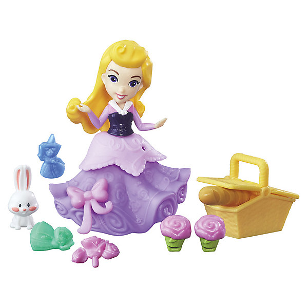 Hasbro Игровой набор с мини-куклой Disney Princess Маленькое королевство Аврора disney princess игровой набор с куклой easy styles ариэль