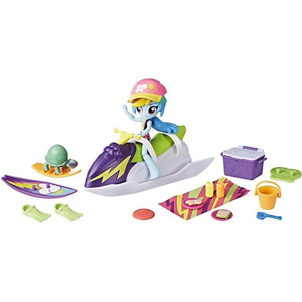 Hasbro Игровой набор с мини-куклой Equestria Girls Пижамная вечеринка Пляжный спорт Рэйнбоу Дэш sofia the first игровой набор с мини куклой принцесса эмбер и королевская арфа