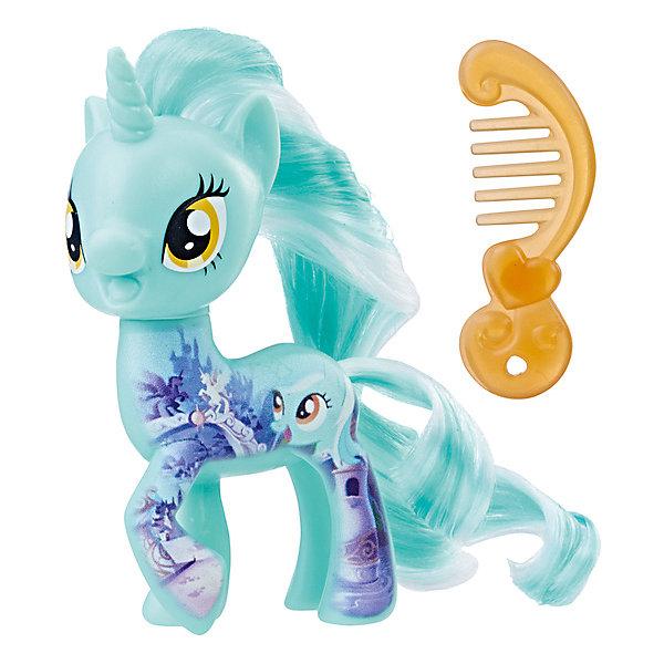 Фигурка My little Pony Пони-подружки ЛираФигурки из мультфильмов<br>Характеристики:<br><br>• возраст: от 3 лет;<br>• материал: пластик;<br>• высота фигурки: 7 см;<br>• в наборе: фигурка, аксессуар;<br>• вес упаковки: 55 гр.;<br>• размер упаковки: 4,8х12,7х15,2 см;<br>• страна бренда: США.<br><br>Фигурка Hasbro My little Pony из серии «Пони-подружки» в точности изображает героиню любимого детского мультсериала «Дружба – это чудо!». Очаровательная пони обладает ярким окрасом, большими глазками и длинной лоснящейся гривой. Гриву и хвостик можно причесывать. Голова фигурки крутится в разные стороны.<br><br>В наборе также есть аксессуар для пони. Фигурку небольшого размера удобно повсюду брать с собой. Собрав всю коллекцию серии, девочка сможет устраивать сюжетные игры. Набор выполнен из качественных безопасных материалов.<br><br>Фигурку My little Pony «Пони-подружки» Лира можно купить в нашем интернет-магазине.<br>Ширина мм: 40; Глубина мм: 126; Высота мм: 147; Вес г: 69; Возраст от месяцев: 36; Возраст до месяцев: 84; Пол: Женский; Возраст: Детский; SKU: 8401637;