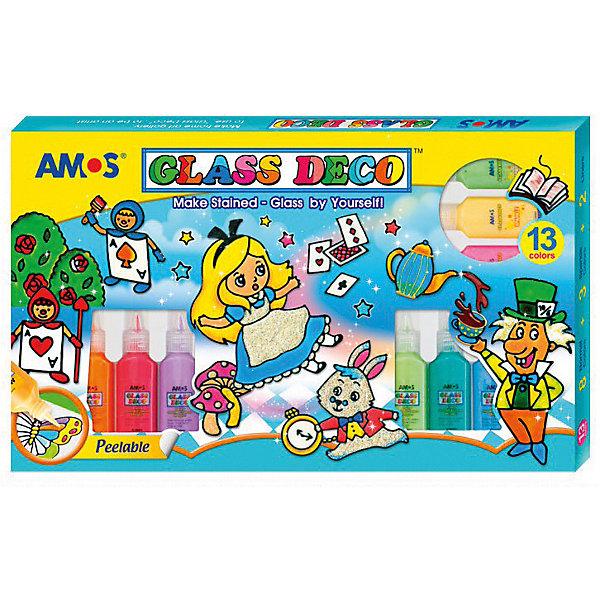 Amos Набор витражных красок Волшебница, 13 цветов по 22 мл