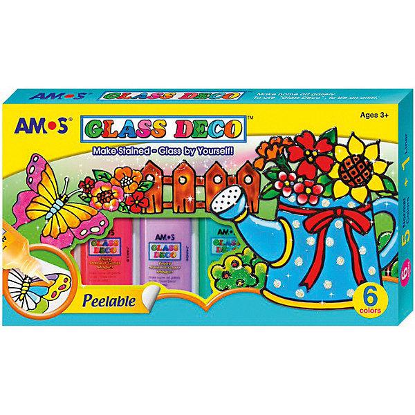 Amos Набор витражных красок Amos, 6 цветов по 22 мл