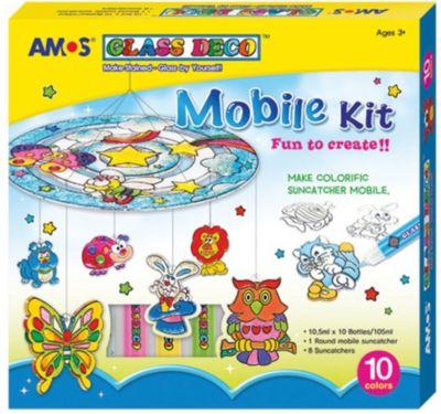 Набор витражных красок Amos  Мобиле , 10 цветов по 10,5 мл, артикул:8402017 - Рисование и раскрашивание
