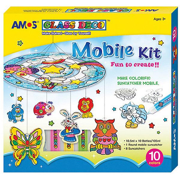 Amos Набор витражных красок Мобиле, 10 цветов по 10,5 мл