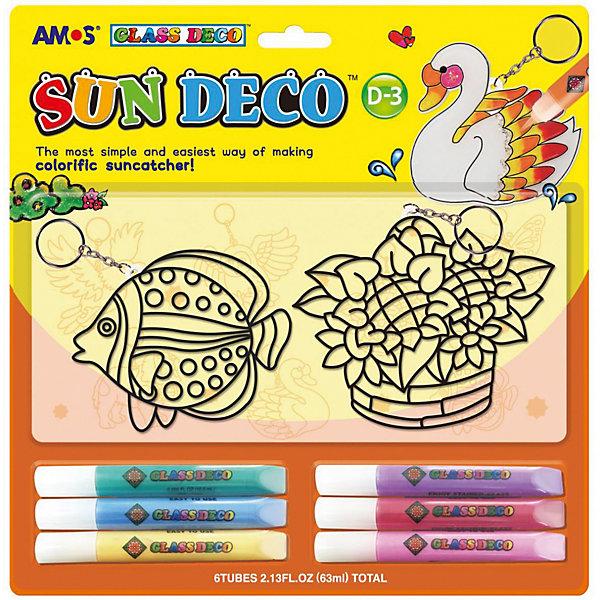 Amos Набор витражных красок Amos, 6 цветов по 10,5 мл