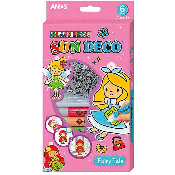 """Amos Набор витражных красок Amos """"Сказка"""", 6 цветов по 10,5 мл"""