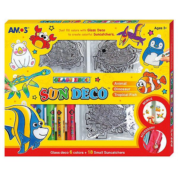 Amos Набор витражных красок Amos Мини-витражи, 6 цветов по 10,5 мл