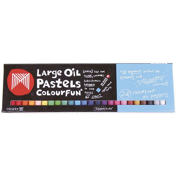 Картинка для Гипоаллергенные масляные мелки Micador 24 шт, пастельные