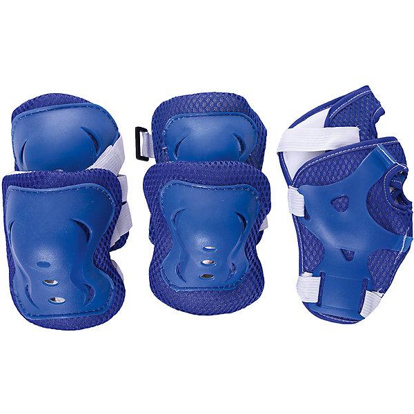 Комплект защиты Next ФиксикиЗащитные аксессуары<br>Характеристики:<br><br>• возраст: от 6 лет;<br>• цвет: синий;<br>• материал: пластик, текстиль;<br>• комплектация: защита для колен, локтей и запястий;<br>• вес: 140 гр;<br>• размер: 33x21х6 см;<br>• бренд:  Next.<br><br>Комплект защиты Next «Фиксики» необходим не только начинающему гонщику, но и юному спортсмену. Активный ребенок, обожающий кататься на велосипеде или роликах, должен позаботиться о своей защите. В комплект входят наколенники, налокотники и защита для запястий, выполненные из текстиля с пластиковыми вставками. Ребенок будет выглядеть современно и стильно, а также будет надежно защищен от различных травм.<br><br>Комплект защиты Next «Фиксики» можно купить в нашем интернет-магазине.<br>Ширина мм: 210; Глубина мм: 60; Высота мм: 330; Вес г: 140; Цвет: синий; Возраст от месяцев: 72; Возраст до месяцев: 96; Пол: Унисекс; Возраст: Детский; SKU: 8417818;