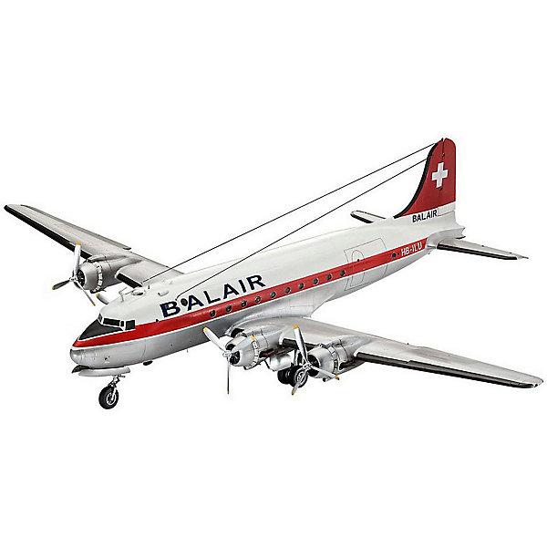 Revell Сборная модель Revell Пассажирский самолёт DC-4 авиакомпании Balair сборная модель revell самолет fairey gannet t 5