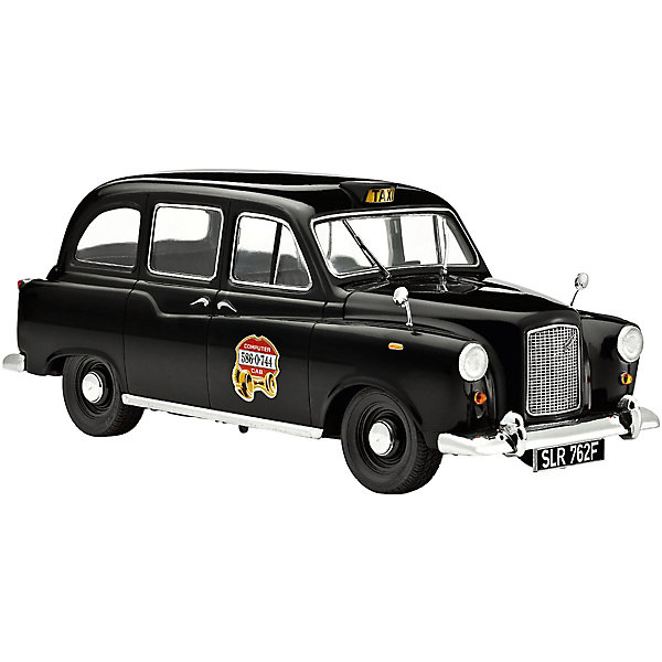 Сборная модель Revell Автомобиль Лондонское таксиАвтомобили<br>Характеристики:<br><br>• возраст: от 10 лет;<br>• материал: пластик;<br>• количество деталей: 68;<br>• масштаб: 1:24;<br>• уровень сложности: 3 из 5;<br>• в наборе: детали для сборки, декали, инструкция;<br>• клей, краски, кисточка: в комплекте;<br>• длина модели: 20,1 см;<br>• вес упаковки: 300 гр.;<br>• размер упаковки: 35,1х8,2х8,2 см;<br>• страна бренда: США.<br><br>Сборная модель от Revell – реалистичная копия лондонского такси. Готовая модель отличается проработанным внешним видом и точностью исполнения. Колеса машины крутятся, кузов сохранил рельефные особенности прототипа. Пластиковые детали легко отсоединяются от литника. Элементы надежно скрепляются между собой при помощи клея. В завершение модель покрывается красками.<br><br>Автомобиль Лондонское такси можно купить в нашем интернет-магазине.<br>Ширина мм: 351; Глубина мм: 82; Высота мм: 82; Вес г: 300; Цвет: разноцветный; Возраст от месяцев: 120; Возраст до месяцев: 2147483647; Пол: Мужской; Возраст: Детский; SKU: 8417844;