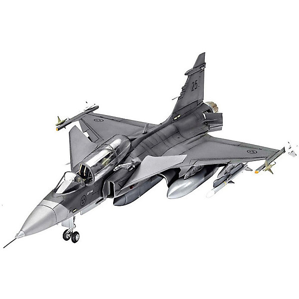 "Revell Сборная модель Revell ""Шведский истребитель-бомбардировщик Saab JAS-39D GRIPEN TwinSeater"" с красками"