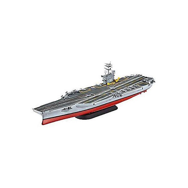 Сборная модель Revell Корабль Авианосец Нимиц CVN-68, американскийКорабли и подводные лодки<br>Характеристики:<br><br>• возраст: от 10 лет;<br>• материал: пластик;<br>• количество деталей: 99;<br>• в наборе: детали для сборки, декали, инструкция;<br>• уровень сложности: 3 по шкале Revell;<br>• клей и краски: не в комплекте;<br>• масштаб: 1:1200;<br>• длина модели: 27,7 см;<br>• вес упаковки: 250 гр.;<br>• размер упаковки: 31х18,3х36 см;<br>• страна бренда: США.<br><br>Сборная модель от Revell – детализированная копия авианосца «Нимиц» CVN-68. Готовая модель отличается реалистичным внешним видом, проработанными рельефами и точностью воспроизведения. Пластиковые детали легко отсоединяются от литника. Элементы надежно скрепляются между собой при помощи клея. В завершение модель покрывается красками. Краски и клей продаются отдельно.<br><br>Корабль Авианосец Нимиц (CVN-68), американский можно купить в нашем интернет-магазине.<br>Ширина мм: 311; Глубина мм: 183; Высота мм: 46; Вес г: 250; Цвет: разноцветный; Возраст от месяцев: 120; Возраст до месяцев: 2147483647; Пол: Мужской; Возраст: Детский; SKU: 8417856;