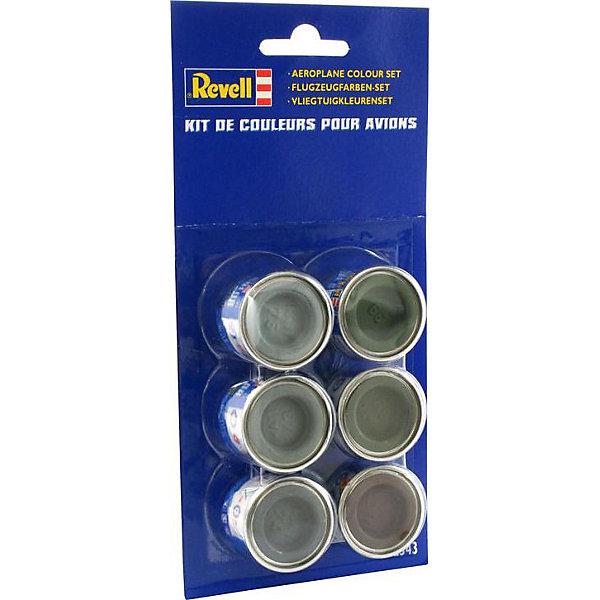 Набор красок для воздушных судов Revell, 6 цветов по 14 млАксессуары для сборных моделей<br>Характеристики:<br><br>• возраст: от 10 лет;<br>• в наборе: 6 красок (номера: 39, Matt 43, Matt 68, Matt 74, Matt 76, Matt 84);<br>• объем одной баночки: 14 мл;<br>• вес упаковки: 180 гр.;<br>• размер упаковки: 18,5х3,5х11 см;<br>• страна бренда: США.<br><br>Набор красок Revell предназначен для окрашивания сборных воздушных судов. Эмалевая краска отлично ложится на пластиковую поверхность.<br><br>Набор красок для воздушных судов (6x14ml) можно купить в нашем интернет-магазине.<br>Ширина мм: 185; Глубина мм: 35; Высота мм: 110; Вес г: 180; Цвет: разноцветный; Возраст от месяцев: 120; Возраст до месяцев: 2147483647; Пол: Мужской; Возраст: Детский; SKU: 8417868;