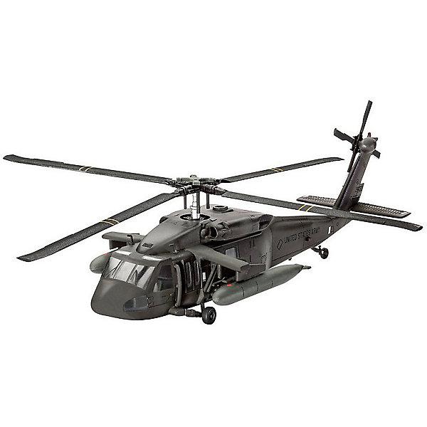 Сборная модель Revell Американский многоцелевой вертолёт Сикорский UH-60A Блэк ХокСамолеты и вертолеты<br>Характеристики:<br><br>• возраст: от 10 лет;<br>• материал: пластик;<br>• количество деталей: 74;<br>• масштаб: 1:100;<br>• в наборе: детали для сборки, декали, инструкция;<br>• уровень сложности: 3 по шкале Revell;<br>• клей и краски: не в комплекте;<br>• длина модели: 15,1 см;<br>• диаметра ротора: 15,7 см;<br>• вес упаковки: 146 гр.;<br>• размер упаковки: 24,3х3,6х15,8 см;<br>• страна бренда: США.<br><br>Сборная модель от Revell – детализированная копия американского многоцелевого вертолета UH-60A. Готовая модель отличается реалистичным внешним видом, проработанными рельефами и точностью воспроизведения. Ротор вертолета подвижен. Правая боковая дверь может быть установлена в открытом или закрытом положении. <br><br>Пластиковые детали легко отсоединяются от литника. Элементы надежно скрепляются между собой при помощи клея. В завершение модель покрывается красками. Краски и клей продаются отдельно.<br><br>Американский многоцелевой вертолет Сикорский UH-60A «Блэк Хок» можно купить в нашем интернет-магазине.<br>Ширина мм: 243; Глубина мм: 36; Высота мм: 158; Вес г: 146; Цвет: разноцветный; Возраст от месяцев: 120; Возраст до месяцев: 2147483647; Пол: Мужской; Возраст: Детский; SKU: 8417874;