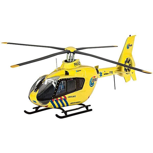 """Revell Сборная модель Revell """"Транспортный вертолёт Airbus Helicopters EC135 ANWB"""" с красками"""