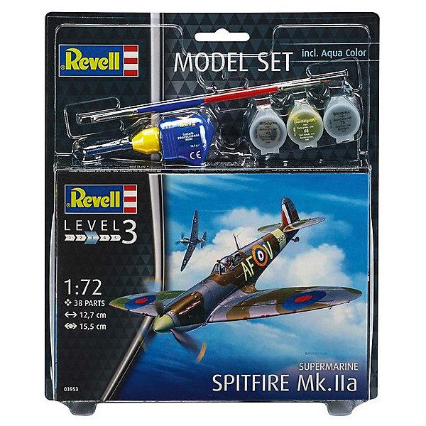 """Revell Сборная модель Revell """"Британский истребитель времён Второй мировой войны Spitfire Mk. Iia"""" с красками"""