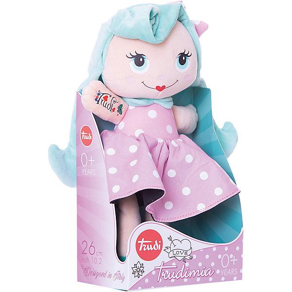 Мягкая кукла Trudi с голубыми волосами, 28 смКуклы<br>Характеристики:<br><br>• возраст: от 1 года;<br>• материал: плюш, текстиль;<br>• высота игрушки: 28 см;<br>• вес упаковки: 110 гр.;<br>• размер упаковки: 12х12х27 см;<br>• страна бренда: Италия.<br><br>Мягкая кукла Trudi – обладательница длинных ярких волос и больших голубых глазок. Игрушка одета в красивый наряд и уже раскинула руки для объятий с ребенком. Кукла невероятно приятна на ощупь, качественный плюш долго сохраняет первоначальный внешний вид. Игрушка надежно прошита, подходит для машинной стирки при температуре 30 градусов.<br><br>Мягкие игрушки Trudi соответствуют высоким требованиям к качеству детских товаров.<br><br>Мягкую куклу с голубыми волосами, 28 см можно купить в нашем интернет-магазине.<br>Ширина мм: 12; Глубина мм: 12; Высота мм: 27; Вес г: 110; Цвет: розовый/розовый; Возраст от месяцев: 12; Возраст до месяцев: 2147483647; Пол: Унисекс; Возраст: Детский; SKU: 8420644;