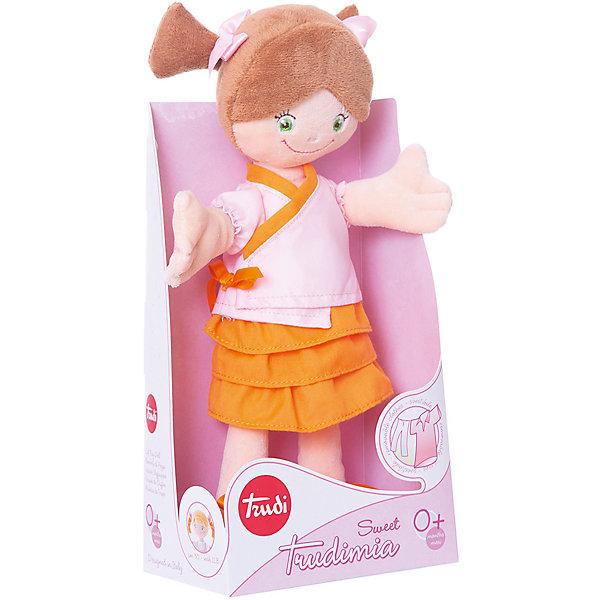 Trudi Мягкая кукла Trudi в кимоно, 30 см мягкая игрушка trudi котёнок брэд