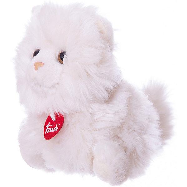 Мягкая игрушка Trudi Кот-пушистик, 24 смМягкие игрушки животные<br>Характеристики:<br><br>• возраст: от 1 года;<br>• материал: плюш, пластик;<br>• высота игрушки: 24 см;<br>• вес упаковки: 120 гр.;<br>• размер упаковки: 12х13х24 см;<br>• страна бренда: Италия.<br><br>Мягкая игрушка Trudi выполнена в виде очаровательного пушистого котика с выразительной мордочкой. Игрушка невероятно приятна на ощупь, качественный плюш долго сохраняет первоначальный внешний вид. Изделие надежно прошито, подходит для машинной стирки при температуре 30 градусов.<br><br>Мягкие игрушки Trudi соответствуют высоким требованиям к качеству детских товаров. Сделано из безопасных материалов.<br><br>Мягкую игрушку Trudi «Кот-пушистик», 24 см можно купить в нашем интернет-магазине.<br>Ширина мм: 12; Глубина мм: 13; Высота мм: 24; Вес г: 120; Цвет: белый; Возраст от месяцев: 12; Возраст до месяцев: 2147483647; Пол: Унисекс; Возраст: Детский; SKU: 8420663;