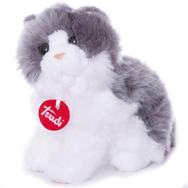 Trudi Мягкая игрушка Trudi Серо-белая кошка Клотильда, 24 см сидячая trudi лайка маркус 24 см trudi