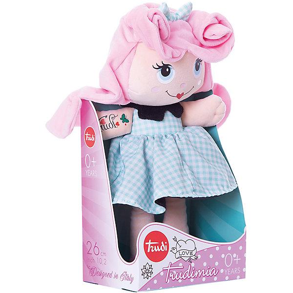 Trudi Мягкая кукла Trudi с розовыми волосами, 28 см мягкие игрушки trudi лайка маркус 34 см