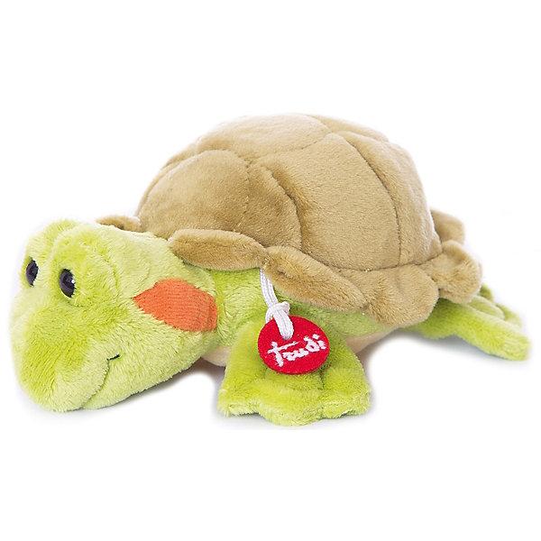Мягкая игрушка Trudi Черепашка, 15 смМягкие игрушки животные<br>Характеристики:<br><br>• возраст: от 1 года;<br>• материал: плюш, пластик;<br>• высота игрушки: 15 см;<br>• вес упаковки: 97 гр.;<br>• размер упаковки: 10х13х14 см;<br>• страна бренда: Италия.<br><br>Мягкая игрушка Trudi выполнена в виде забавной черепашки с выразительными глазками. Игрушка невероятно приятна на ощупь, качественный плюш долго сохраняет первоначальный внешний вид. Игрушка надежно прошита, подходит для машинной стирки при температуре 30 градусов.<br><br>Мягкие игрушки Trudi соответствуют высоким требованиям к качеству детских товаров.<br><br>Мягкую игрушку Trudi «Черепашка», 15 см можно купить в нашем интернет-магазине.<br>Ширина мм: 10; Глубина мм: 13; Высота мм: 14; Вес г: 97; Цвет: зеленый; Возраст от месяцев: 12; Возраст до месяцев: 2147483647; Пол: Унисекс; Возраст: Детский; SKU: 8420836;