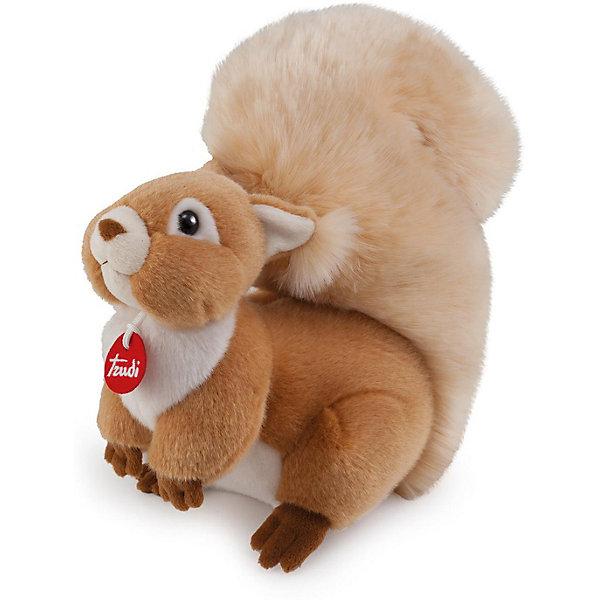 Мягкая игрушка Trudi Белочка Джинджер, 24 смМягкие игрушки животные<br>Характеристики:<br><br>• возраст: от 1 года;<br>• материал: плюш, пластик;<br>• высота игрушки: 24 см;<br>• вес упаковки: 440 гр.;<br>• размер упаковки: 19х24х19 см;<br>• страна бренда: Италия.<br><br>Мягкая игрушка Trudi выполнена в виде очаровательной белочки с пушистым хвостом. Игрушка невероятно приятна на ощупь, качественный плюш долго сохраняет первоначальный внешний вид. Изделие надежно прошито, подходит для машинной стирки при температуре 30 градусов.<br><br>Мягкие игрушки Trudi соответствуют высоким требованиям к качеству детских товаров.<br><br>Мягкую игрушку Trudi «Белочка Джинджер», 24 см можно купить в нашем интернет-магазине.<br>Ширина мм: 19; Глубина мм: 19; Высота мм: 24; Вес г: 440; Цвет: коричневый; Возраст от месяцев: 12; Возраст до месяцев: 2147483647; Пол: Унисекс; Возраст: Детский; SKU: 8420852;