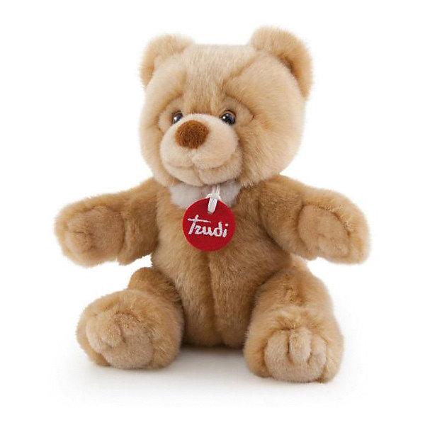 Мягкая игрушка Trudi Бежевый медвежонок Тео, 26 смМягкие игрушки животные<br>Характеристики:<br><br>• возраст: от 1 года;<br>• материал: плюш, пластик;<br>• высота игрушки: 26 см;<br>• вес упаковки: 140 гр.;<br>• размер упаковки: 19х26х14 см;<br>• страна бренда: Италия.<br><br>Мягкая игрушка Trudi выполнена в виде милого медвежонка с выразительными глазками. Игрушка невероятно приятна на ощупь, качественный плюш долго сохраняет первоначальный внешний вид. Изделие надежно прошито, подходит для машинной стирки при температуре 30 градусов.<br><br>Мягкие игрушки Trudi соответствуют высоким требованиям к качеству детских товаров. Сделано из безопасных материалов.<br><br>Мягкую игрушку Trudi «Бежевый медвежонок Тео», 26 см можно купить в нашем интернет-магазине.<br>Ширина мм: 19; Глубина мм: 26; Высота мм: 14; Вес г: 140; Цвет: бежевый; Возраст от месяцев: 12; Возраст до месяцев: 2147483647; Пол: Унисекс; Возраст: Детский; SKU: 8420896;